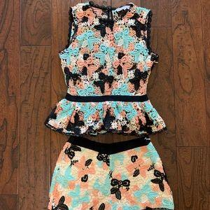 Endless Rose Shorts - Floral Lace Matching Short Set